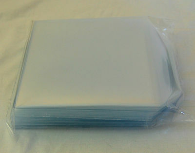 300 Cd DVD Plastic Wallet 150 Micron Sleeve 125x125mm Clear Disc Cover Case Flap