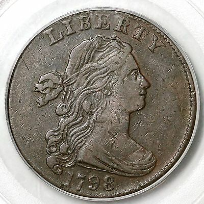 1798 S-179 PCGS VF 30 Draped Bust Large Cent Coin 1c