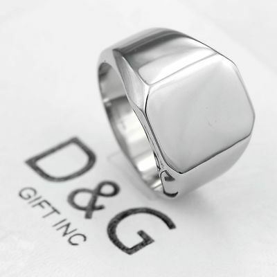 DG Men's Stainless-Steel Silver 14mm ID ,Rings 8 9,10,11,12,13 High quality*Box