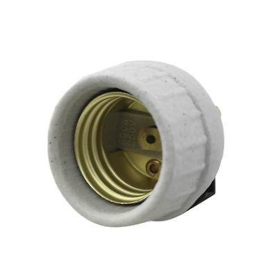 Leviton 8875 Medium Porcelain Snap-In with Screw Term Socket Lampholder 26126