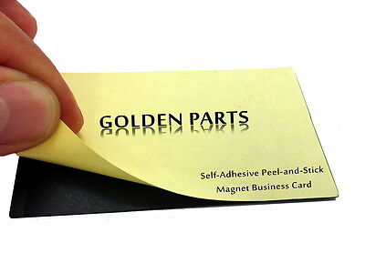 100 Self-Adhesive Peel-and-Stick Business Card Size Magnets