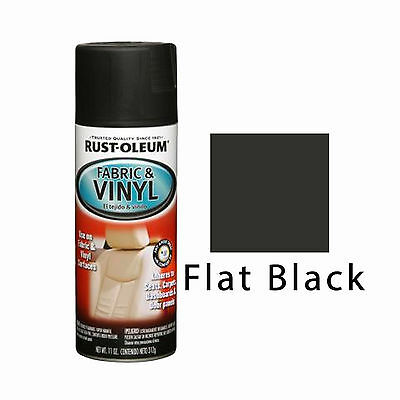 Rust-Oleum Fabric & Vinyl Spray Paint Seats Doors Dashboard Chairs Flat Black