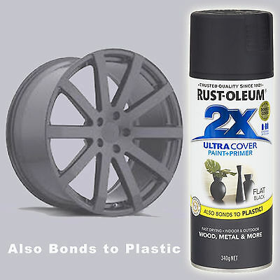 Rustoleum/Rust-Oleum 2X Ultra Cover Flat Black Spray Paint+Primer Aerosol Can