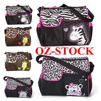 Waterproof Cute Animal Multi Baby Diaper Nappy Changing Bag Travel Shoulder Bag
