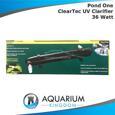 Aqua One Pond ClearTec UV Clarifier 36W Watt Steriliser & Kills Algae UVC Tank