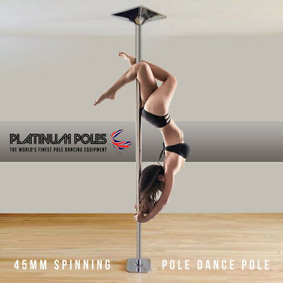 PLATINUM POLES™ 45mm Professional Spinning Pole Dancing Pole - Sport / Fitness