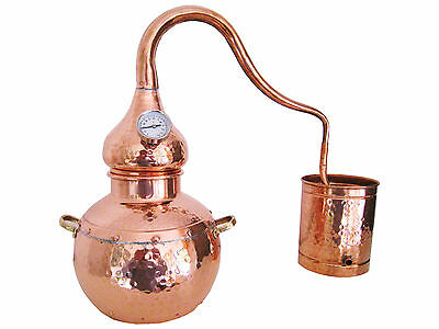 Copper Distiller 10 liter still with thermometer - traditional Alembic Alambic