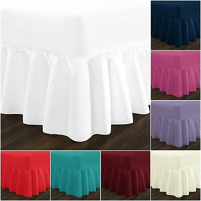 Plain Dyed Fitted Sheets,& Fitted Valance Sheets Poly Cotton Single Double King