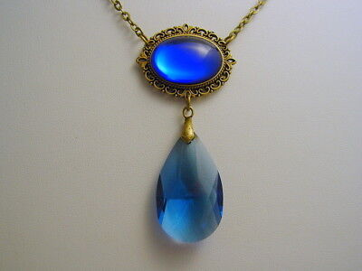 Collection Wendy Wendy's Sapphire Blue Pre-Cursed Antique Bronze Necklace