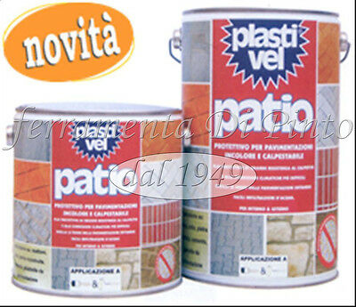 Plastivel Patio Lt 2,5 5 Impermeabilizzante Invisibile Guaina Liquida Pedonabile