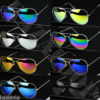 Classic Pilot Sunglasses Gold Silver frames UV400 Protection