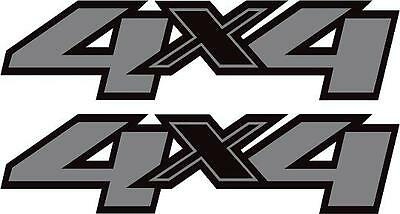 4x4 Chevy/Dodge/GMC/Toyota 4x4 off road Silver/Black Truck Decal X2!