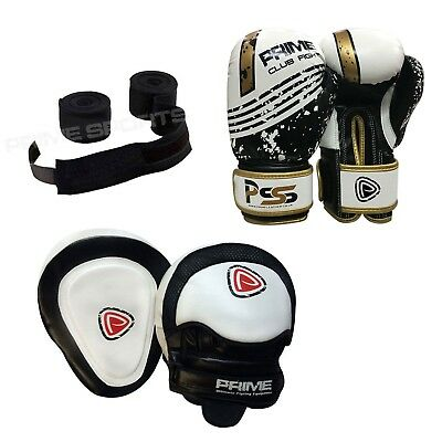 Kids Boxing Gloves Punch Pads Junior Mitts & Focus Pads Hand Wrap Training 1004