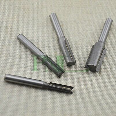 "4PCS Double Flute Straight Router Bit Set with 1/4"" Shank (6,8,10,12mm)"