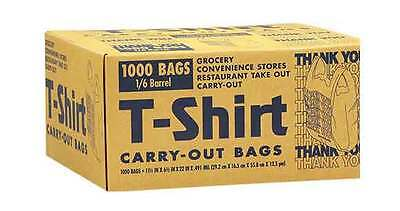 T-Shirt Carry Out Thank You Plastic Bags Recyclable Retail Grocery Shopping 1000