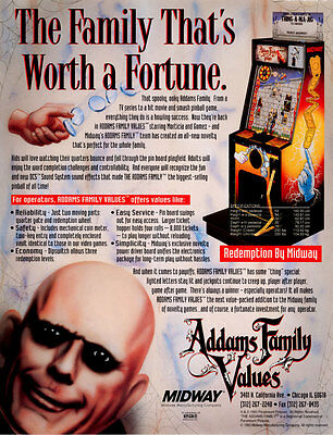 1993 Midway Addams Family Values Arcade Flyer