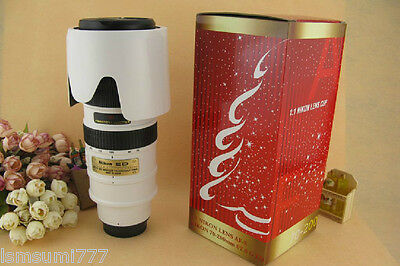 (White) Nikon Lens 1:1 AF-S 70-200mm f/2.8G VR Thermos Coffee Cup Mug with Bag