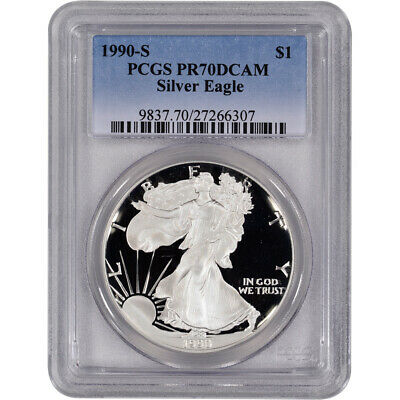 1990-S American Silver Eagle Proof - PCGS PR70 DCAM