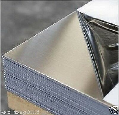 1pcs 304 Stainless Steel Fine Polished Plate Sheet 1mm x 100mm x 100mm