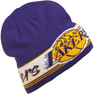 Genuine adidas Originals Men's/ Boy's LA Lakers Beanie Basketball Knitted Hat