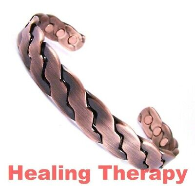 Mens Large Copper Healing Therapy Magnetic Bracelet-Arthritis