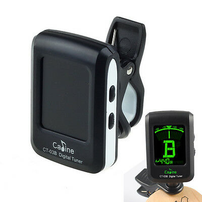 New CT03B Digital LCD Clip On Electronic Acoustic Guitar Tuner Violin Ukulele
