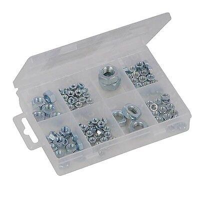 Brand New Hexagon Nuts Pack 108Pce Assorted Sizes M4 - M12 Mini Tools P313