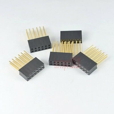 20pcs 2.54mm 2x6 12pin  Long Legs Double Row Female stackable Straight Header