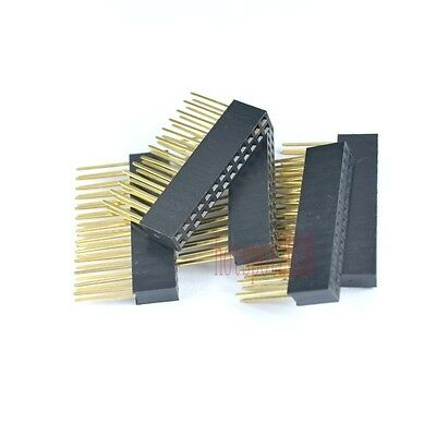 10pcs 2.54mm 2x13 26pin Double Row Female stackable Straight Header socket Strip