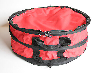 """Brand New Round Foldable & Waterproof Polyester Light hat box 20"""" Red or Black"""