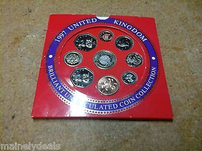 1997 United Kingdom Uncirculated Proof Coin Collection Set