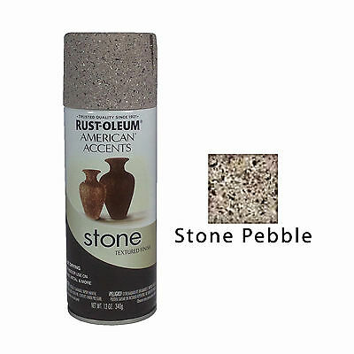 Rust-Oleum American Accents Stone Textured Spray Paint Vases Pots Stone Pebble