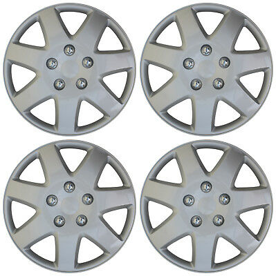 """4 Piece SET Hub Caps ABS Silver 16"""" Inch for OEM Steel Wheel Cover Cap Covers"""