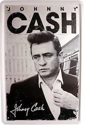 Johnny Cash Musik Metallschild 20x30 Retro Reklame Blechschild 380