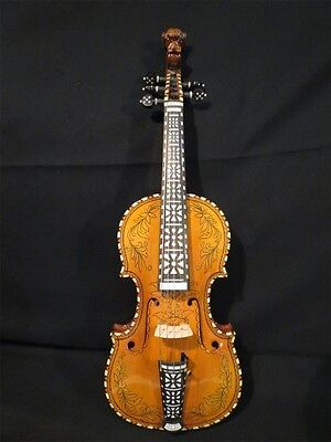 Perfect drawing,inlay and the carving Song maestro 5strings 4/4 violin #1