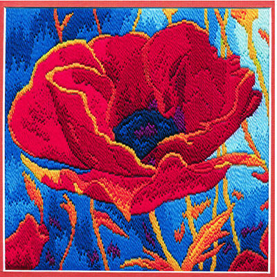Derwentwater Designs Poppy Head Long Stitch Kit