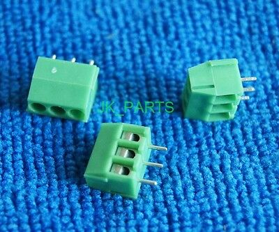 10pcs 3.5mm Pitch 3 pin 3 way Straight Pin PCB Screw Terminal Blocks Connector