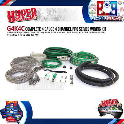 4 Gauge 2500W Car Audio 4 2 1 Channel Power Amplifier Amp Wiring Kit Cable Fuse