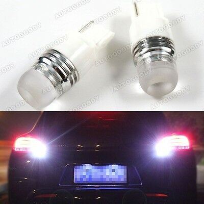 2 x Bright Xenon White LED Backup Reverse Light Bulbs 7440