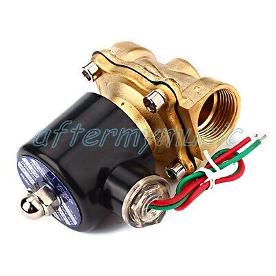 """AC 220V 3/4"""" Electric Solenoid Valve Gas Water Air Black"""