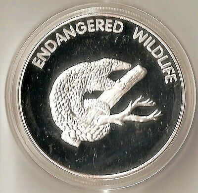 Malawi 10 Kwacha 2005 Endangered Wildlife Pangolin - Heavy Plated Proof Coin