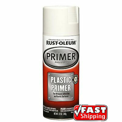 Rust-Oleum Plastic Primer White Spray Paint Sealer Automotive Arts & Crafts DIY