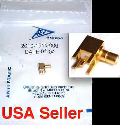 5PCS NEW SEALED -  AEP SMB Gold Plated  Male right angle PCB Connector