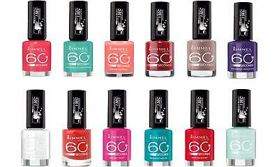 Rimmel London 60 second and long lasting Nail Colour 8ml various colours