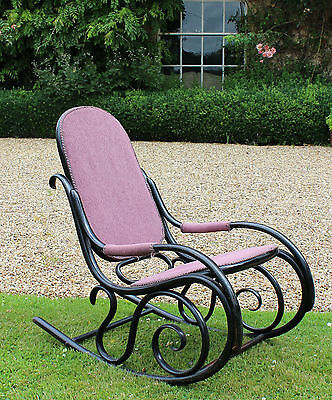 19th 20th Century Bentwood Rocking Chair