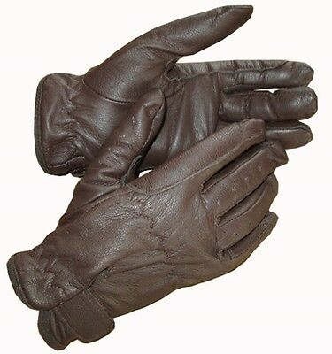 New Childrens Leather Horse Riding Gloves Black Brown Cream Tan Small Medium Lge