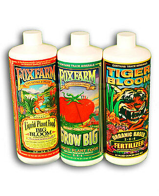 Fox Farm Triple Pack 30Ml Tiger Bloom, Grow Big, Big Bloom Decanted