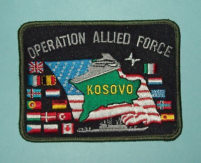 Operation Allied Forces Nato Bombing Of Yugoslavia - Kosovo Military Patch