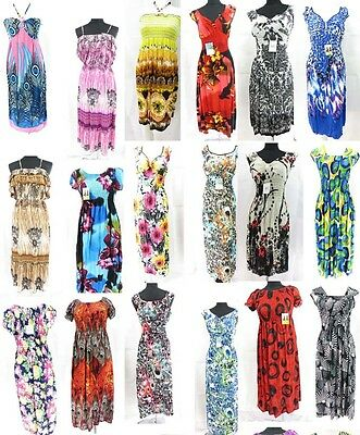 $8/each-wholesale dresses lot of 12 beach dresses long dresses casual sundresses