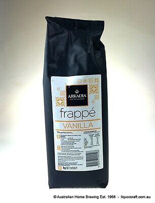 Arkadia Frappe Vanilla smoothie 4x 1kg frappe mix vanilla smoothie recipe • AUD 76.60
